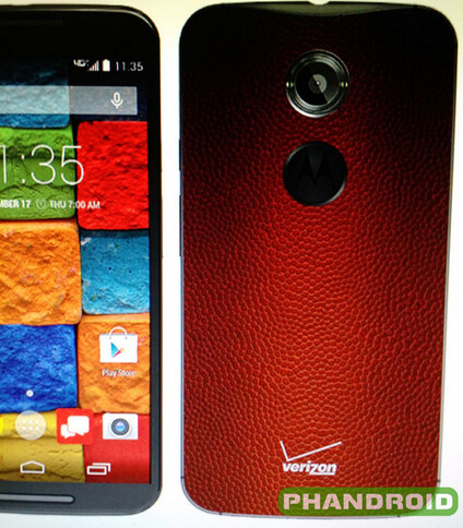 You might score a touchdown with this rumored special leather back edition of the Motorola Moto X - Rumored leather back version of the Motorola Moto X makes the phone look like a football