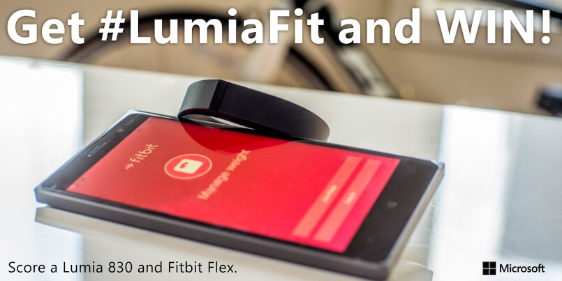 Microsoft lets you win an AT&T Nokia Lumia 830 and a Fitbit Flex