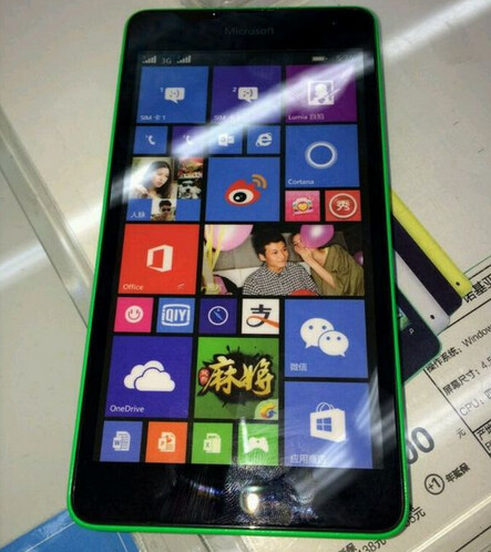 Leaked images of the Microsoft Lumia 535