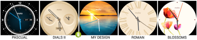 The five new watch face options for the Moto 360 - Motorola Moto 360 now has more watch faces to choose from
