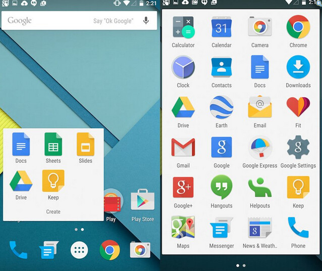 App launcher and home screen for Android 5.0 - Google executive Locheimer speaks up about Android