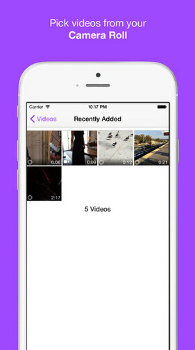 TruSloMo allows you to upload 120fps and 240fps slow motion videos to your social networks - Share 240fps slow motion video from your Apple iPhone 6 and iPhone 6 Plus to social networks