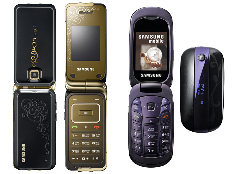 Samsung announces two new clamshell phones targeting the female audience