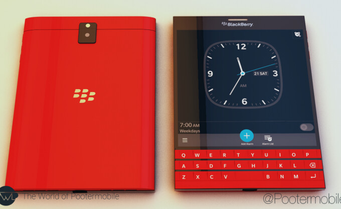 Red ones go faster: a red-colored version of the BlackBerry Passport breaks cover, coming later in 2014