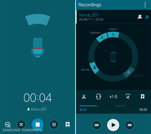 Meeting mode for voice recorder