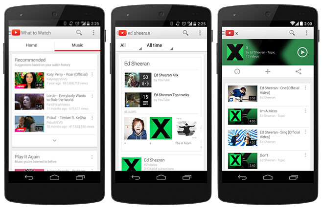 Google updates its Android and iOS YouTube apps with a new Music tab for endless mixes