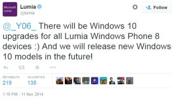 Microsoft: Todos os Lumias rodando Windows Phone 8 serão atualizados para Windows 10