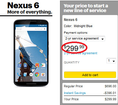 Nexus 6 now available from Sprint - Sprint now offering the Nexus 6 for $299.99 on contract