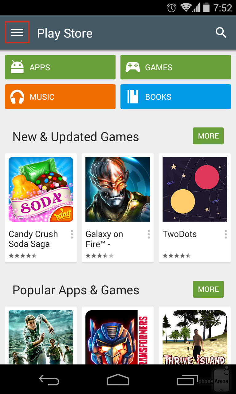 how to change content filtering on google play