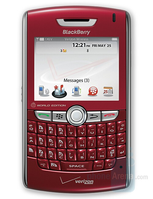 Verizon offers the BlackBerry 8830 World Edition in red