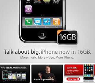 16GB Apple iPhone now available with AT&T