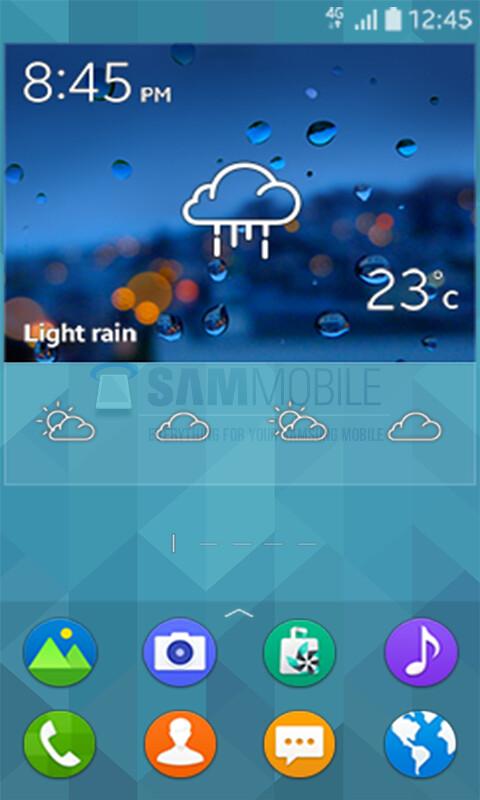Samsung SM-Z130H's Tizen UI