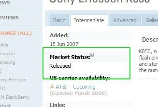 New PhoneArena Feature - Phone Market Status