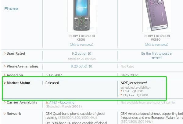 in Compare - New PhoneArena Feature - Phone Market Status