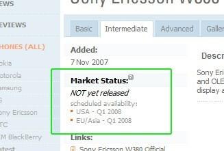 Market Status in Specification - New PhoneArena Feature - Phone Market Status