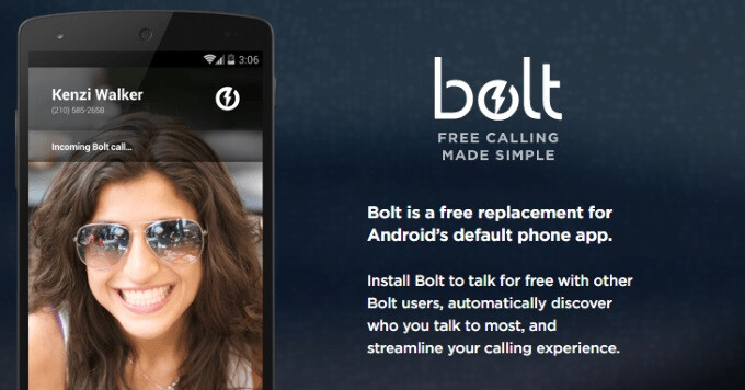 Bolt is a small, distraction-free VoIP calling dialer app replacement for Android