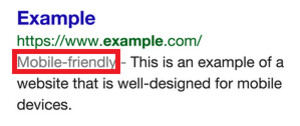 Google will add a label to search results that are optimized for mobile devices - Google to put a label on search results with a 'mobile-friendly' website