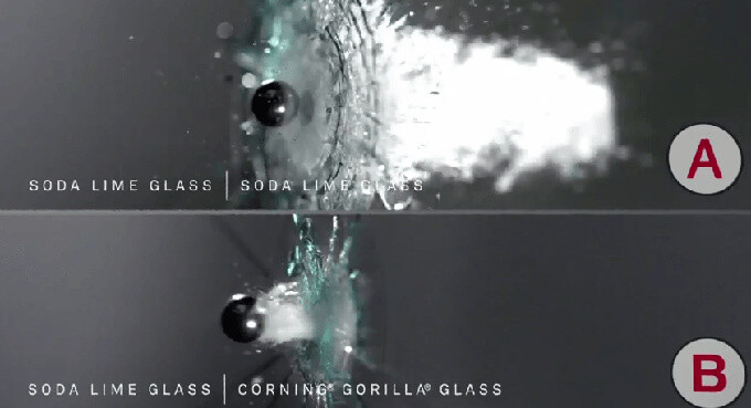 Mythbusters explain Corning's Gorilla Glass, compare it to other types of (not so resistant) glass