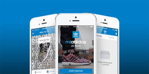 Adidas app for Android and iOS lets you print your own photo on a pair of custom sneakers