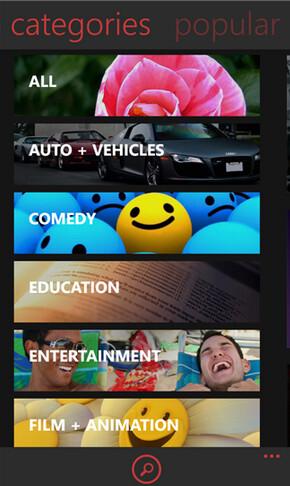 Screenshots from myTube - Windows Phone app myTube to receive update