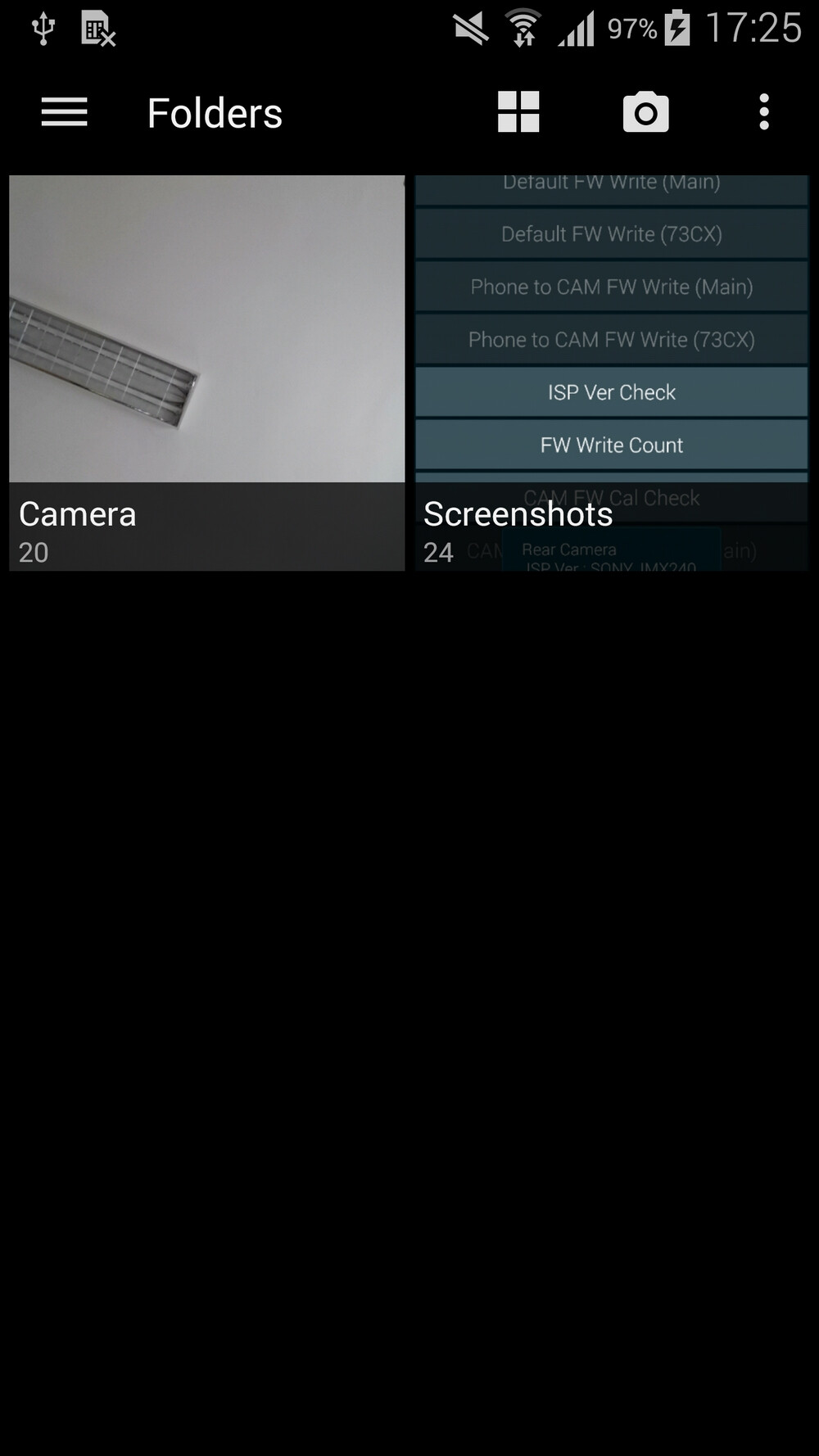 how to add folders in gallery on android
