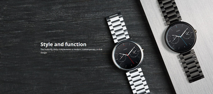 Moto 360 standalone metal and leather bands finally available, but they will cost you