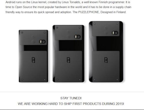 Modular handset, Puzzlephone