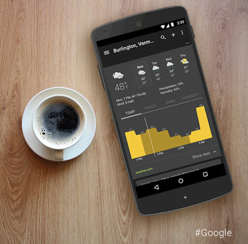 Google adds a new dark theme and weather graphs to its News & Weather app - Google News & Weather gets a new look and new features after update