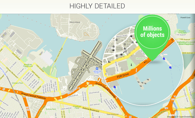 Take Me To Maps Maps.Me offline navigation app for iOS, Android and BlackBerry