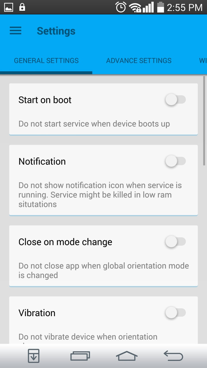Android Device Orientation
