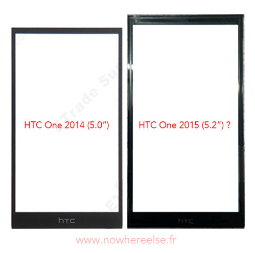 Alleged HTC One M9 front panel