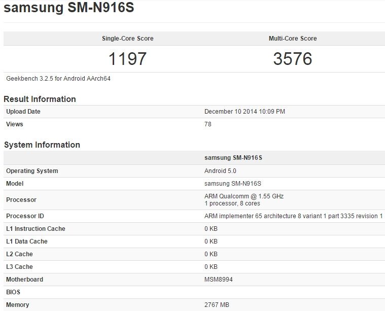 New evidence suggests that a Snapdragon 810-powered Samsung Galaxy Note 4 may be coming soon
