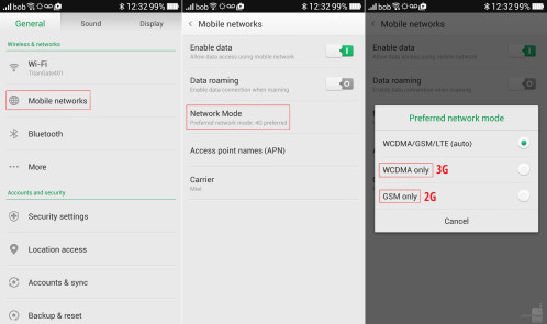 How to turn off 4G LTE on the Oppo Find 7