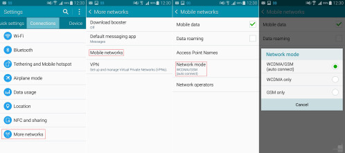 Turn off 4G LTE on the Samsung Galaxy Note 4