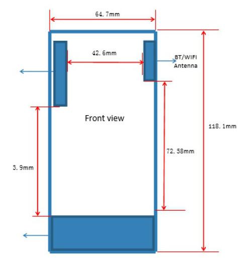 Dimensions of the Lumia 435