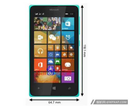 Photo allegedly of the Microsoft Lumia 435