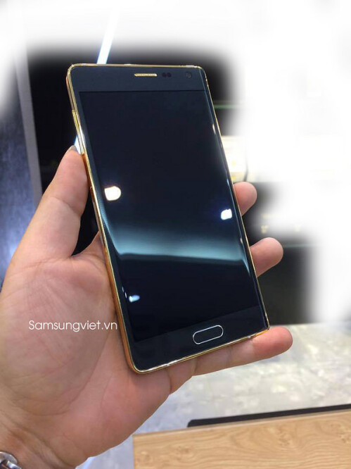 This might be the gold-plated version of the Samsung Galaxy Note Edge