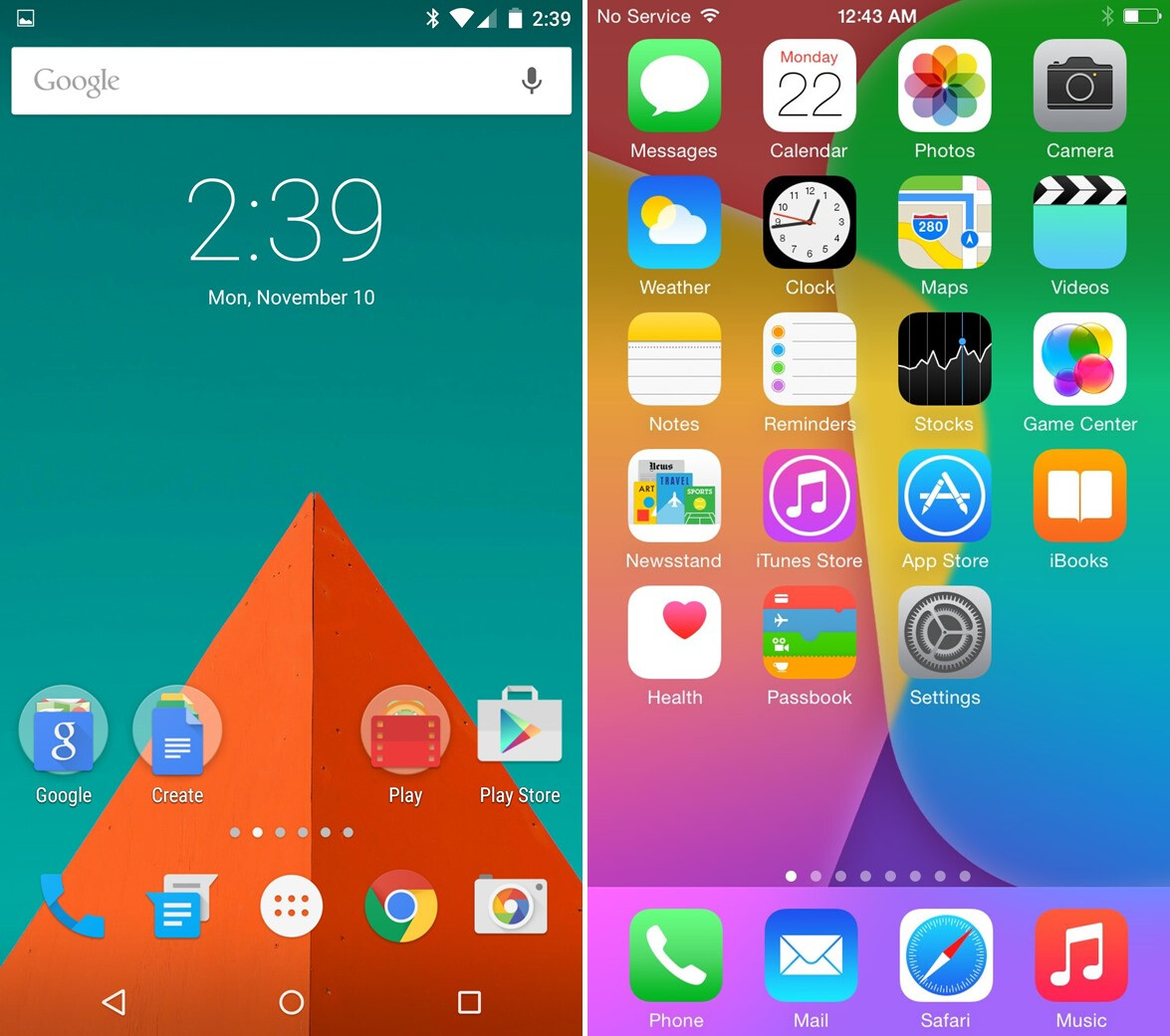 android 5 0 lollipop totally crushes ios 8 in terms of interface android 5 0 lollipop vs ios 8 design showdown