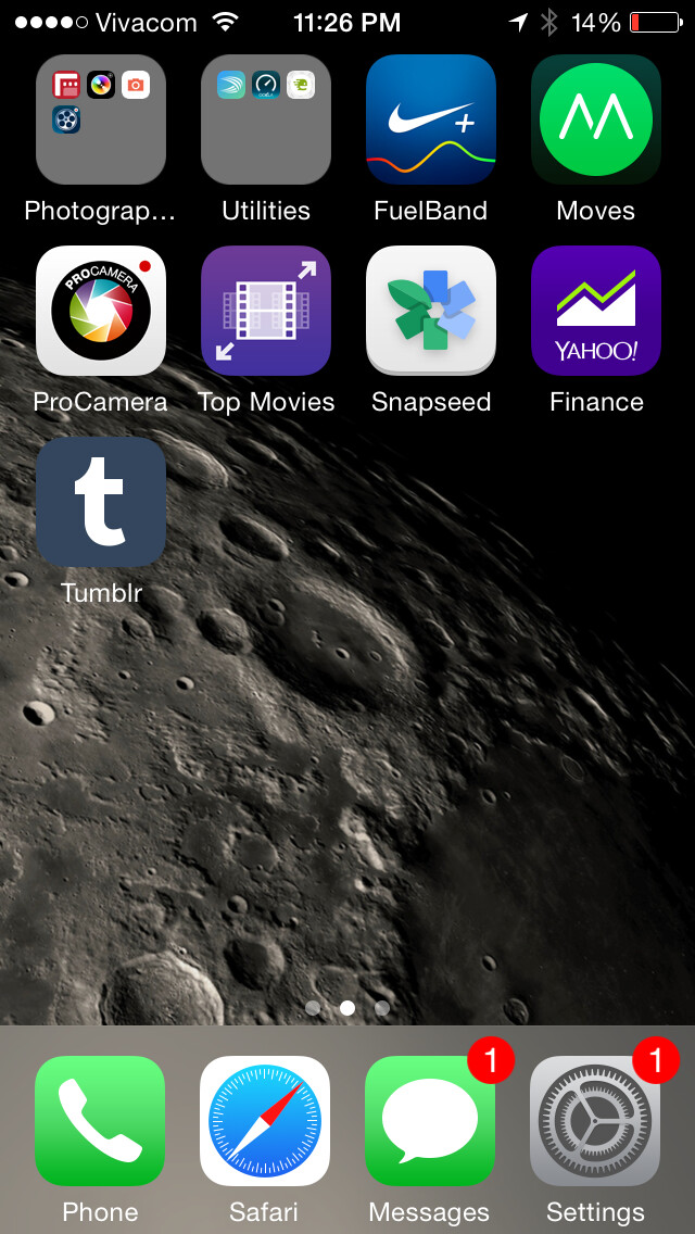 That's the usual look of iOS 8
