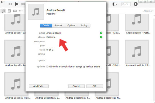 how to add album art to itunes on iphone
