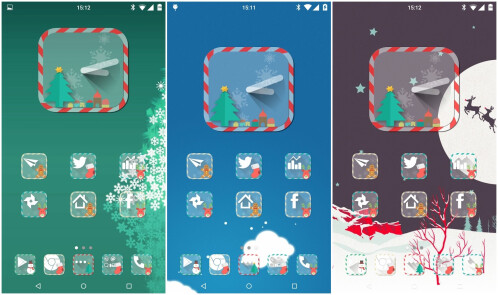 Christmas HD Icon Pack is for xmas-styling your favorite Android launcher