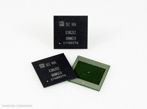 Samsung LPDDR4 RAM Modules