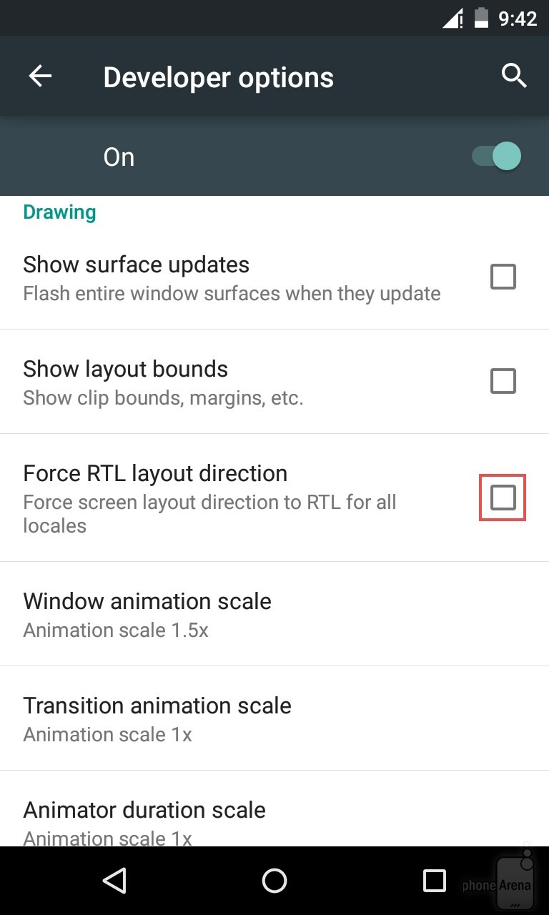 How to force right to left (RTL) layouts on Android - PhoneArena
