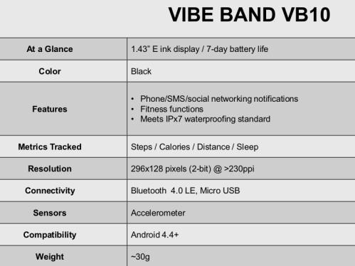 Lenovo Vibe Band VB10