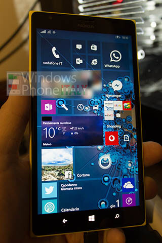 Alleged shots of Windows 10 for smartphones