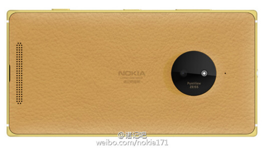Gold leather back on the limited edition Nokia Lumia 830