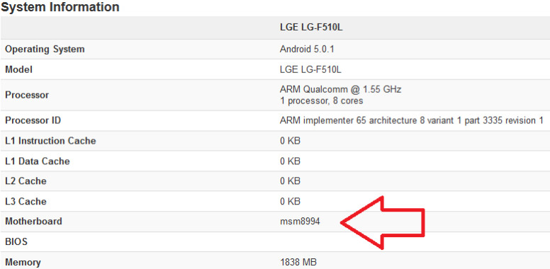 LG device visits Geekbench with the Snapdragon 810 SoC under the hood - LG phone carrying Snapdragon 810 chipset visits benchmark site