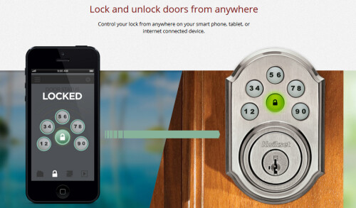 Open your door remotely using your smartphone