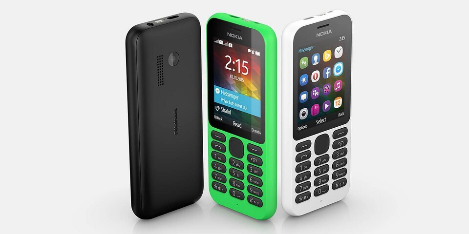 Microsoft unveils Nokia 215: a simple phone with Facebook ...