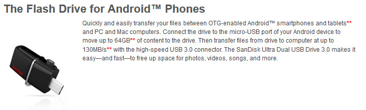 SanDisk flash drive uses your Android phone or tablet's ...